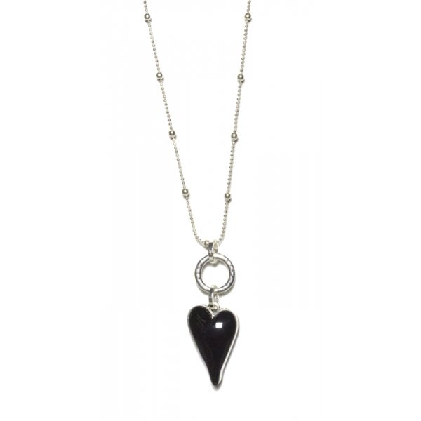 Envy Necklace Black Heart