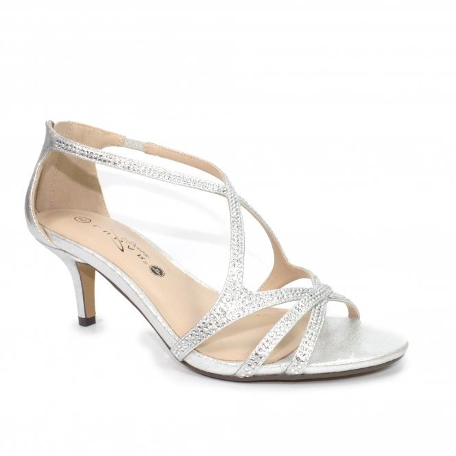 Hally Wide Fit Heel Silver