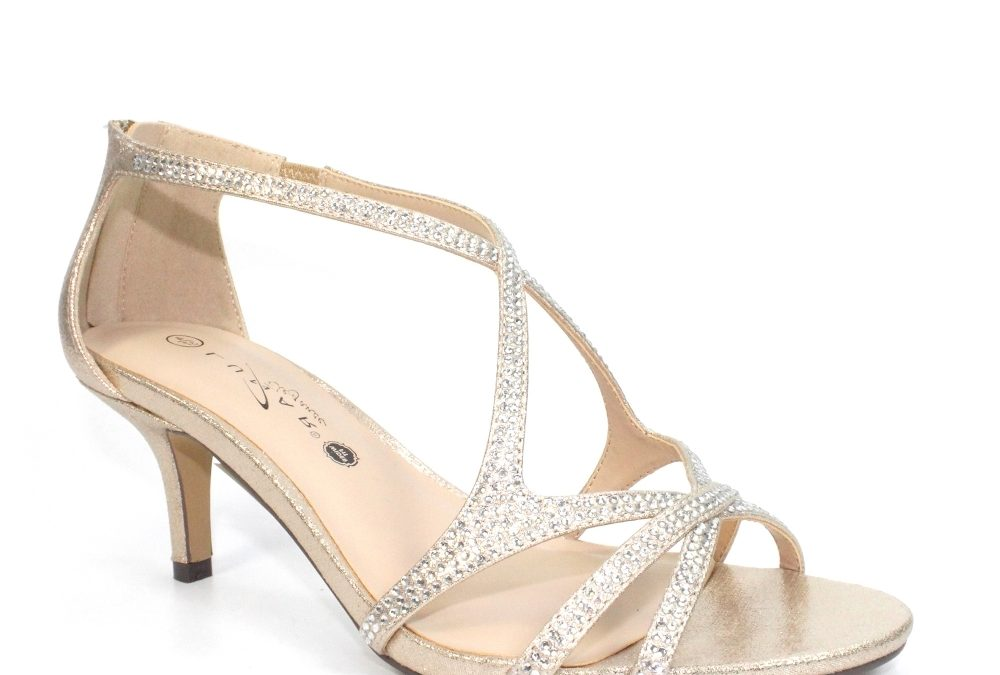 Hally Wide Fit Heel  Gold